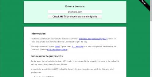 HSTS标头预加载检测工具