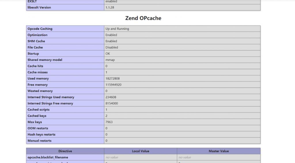 安装启用PHP7.4x的Opcache缓存加速扩展