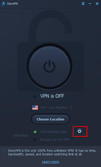 DewVPN-100%无限免费VPN的安装与使用方法