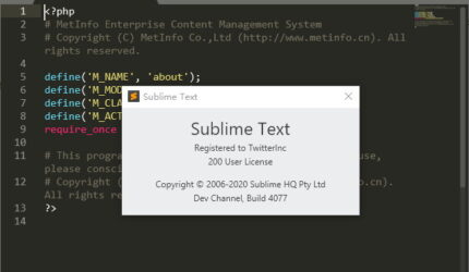 Sublime Text v4.0 Build 4096 文本编辑器 Windows中文注册版!